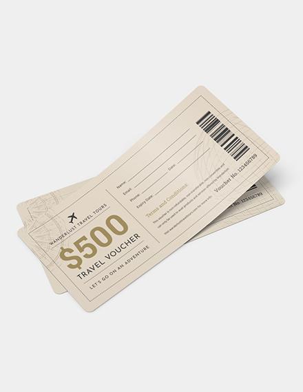 Travel Ticket Voucher Download