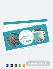 Vacation Gift Voucher Template