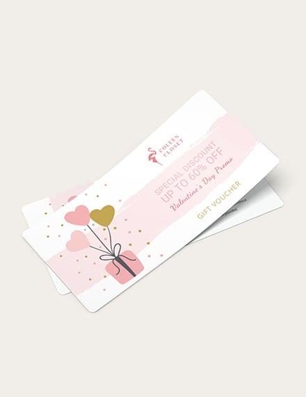 Valentines Gift Voucher Download