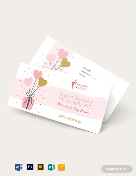 valentines gift voucher template 1