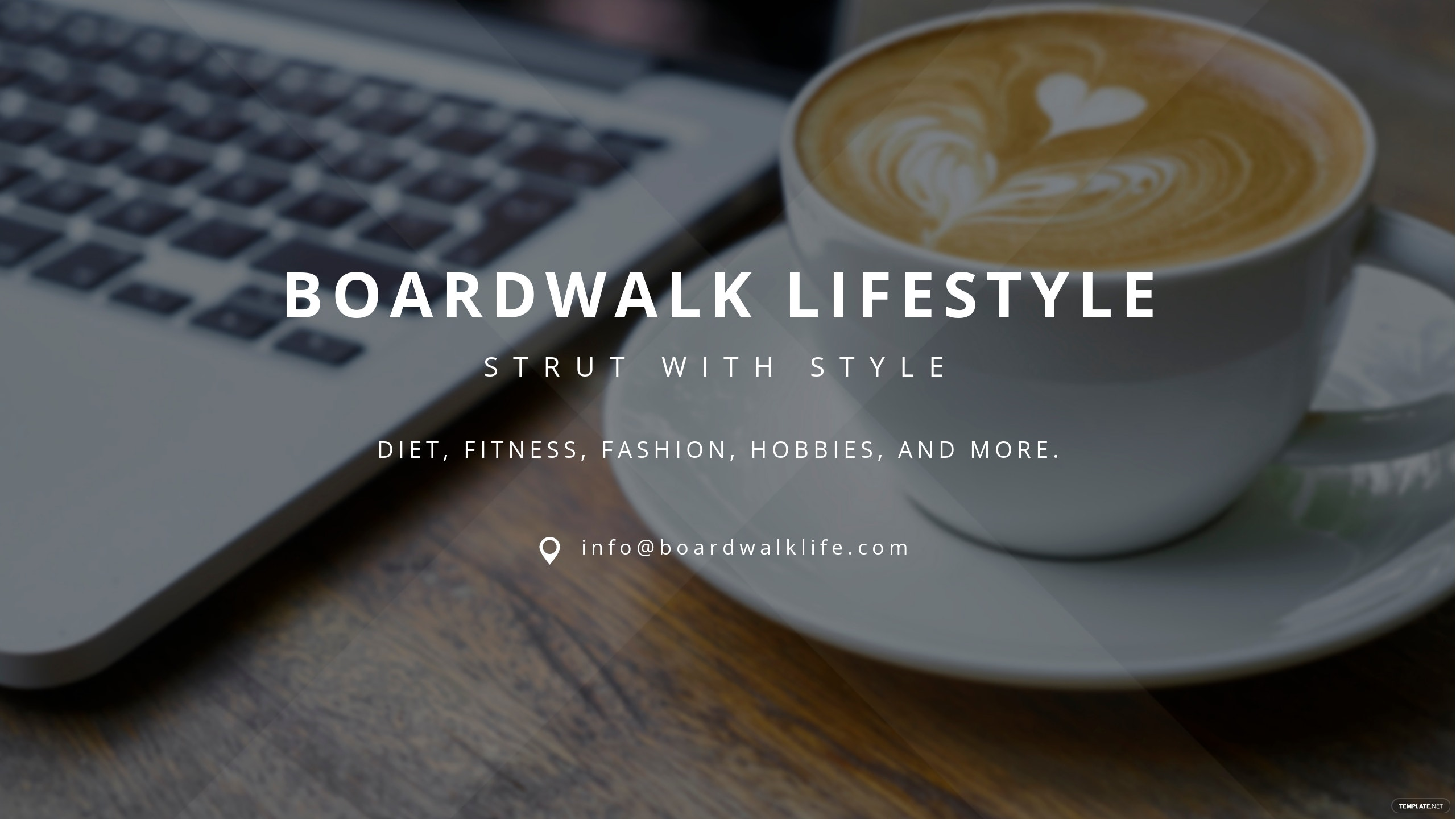 Lifestyle Channel Art for YouTube Template