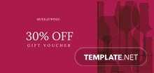 Wine Gift Voucher Template