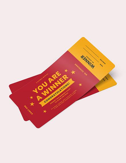Winning Ticket Voucher Download