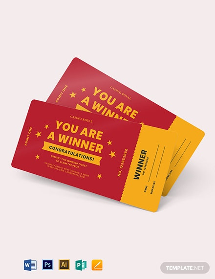 winning ticket voucher template 1