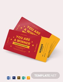 Winning Ticket Voucher Template