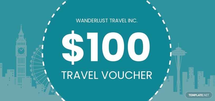 $100 Travel Voucher Template