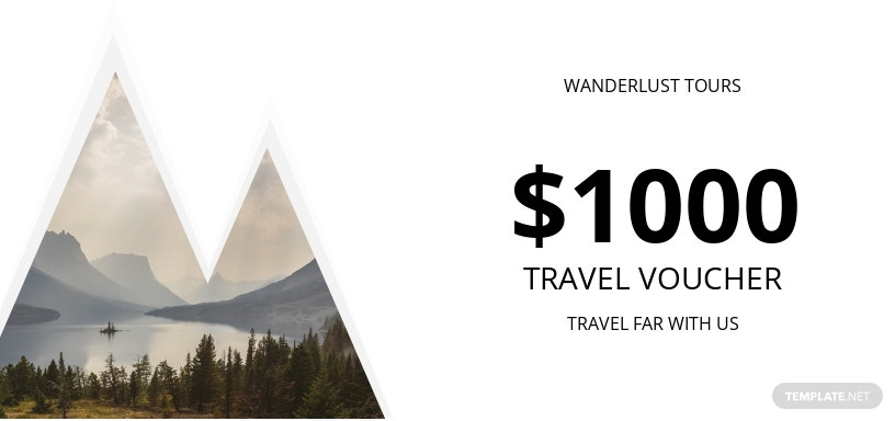 $1000 Travel Voucher Template