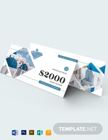 $2000 Travel Voucher Template