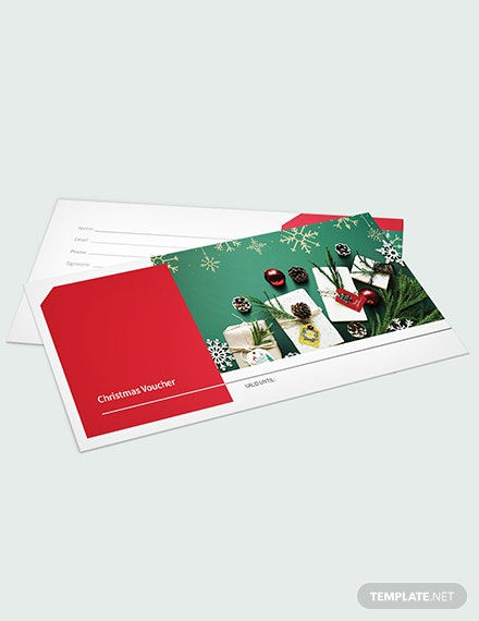 Blank Christmas Voucher Download
