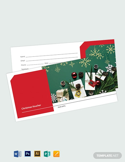 Blank Christmas Voucher Template