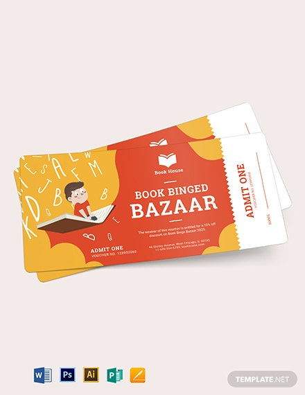 Book Ticket Voucher Template