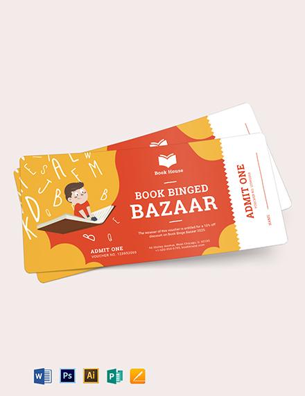 Book Ticket Voucher Template