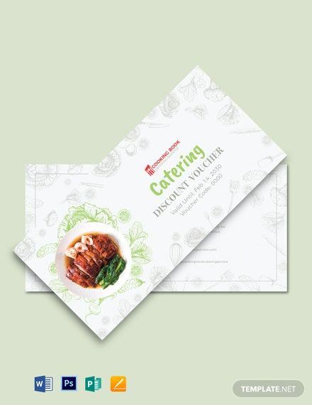 Catering Discount Voucher Template