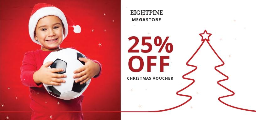 Christmas Football Gift Voucher Template