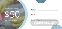 Cleaning Service Voucher Template