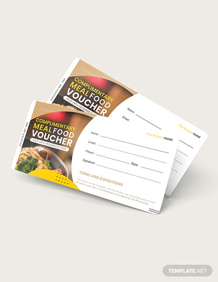 Sample Complimentary Meal Food Voucher