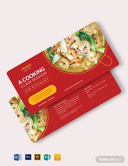 Cooking Class Voucher Template