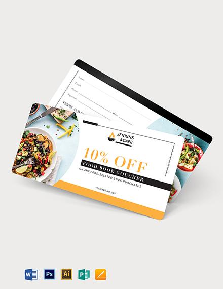 Food Book Voucher Template