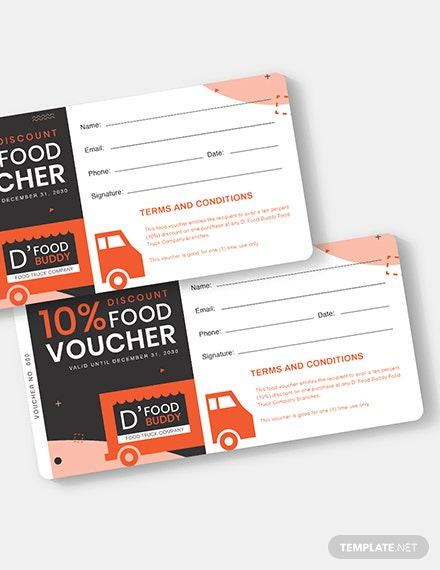 Food Truck Voucher Template Word Psd Apple Pages