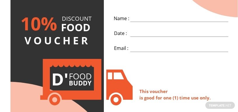 Food Truck Voucher Template