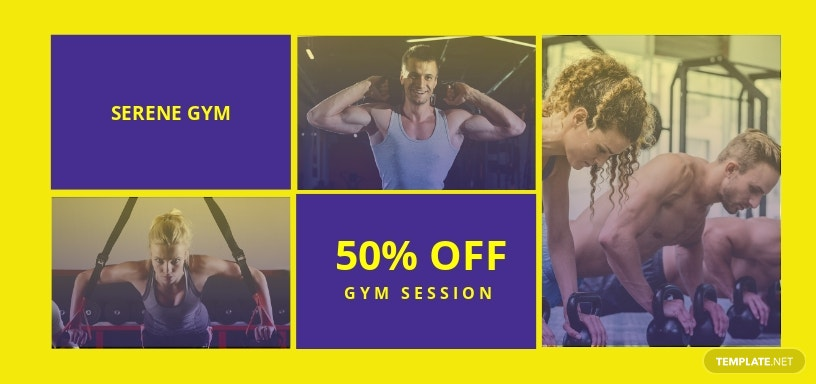 Gym Voucher Template [Free JPG] - Illustrator, Word, Apple Pages, PSD, Publisher