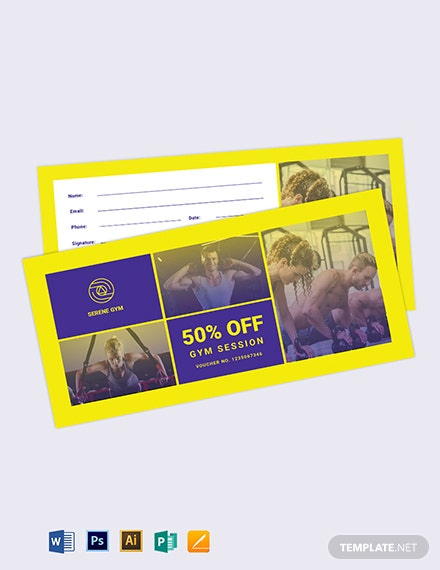 Gym Voucher Template