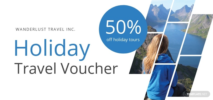 Holiday Travel Voucher Template