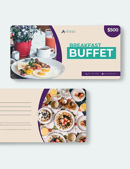 Hotel Breakfast Voucher Download