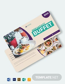Hotel Breakfast Voucher Template
