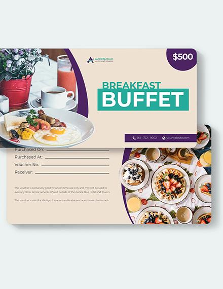 Sample Hotel Breakfast Voucher