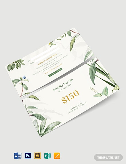 Massage Therapy Gift Voucher Template