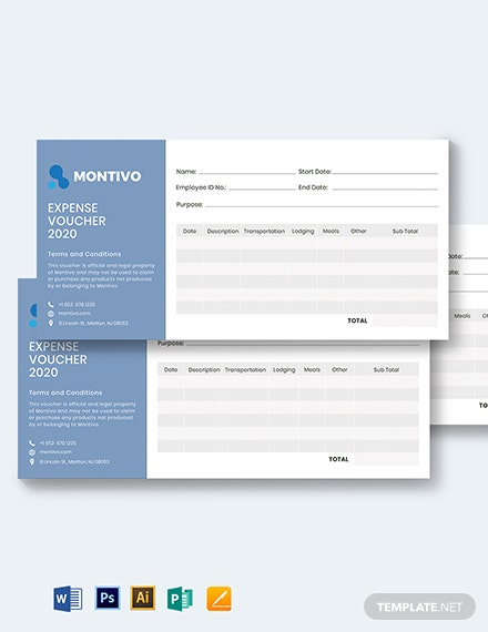 business expense voucher template 1