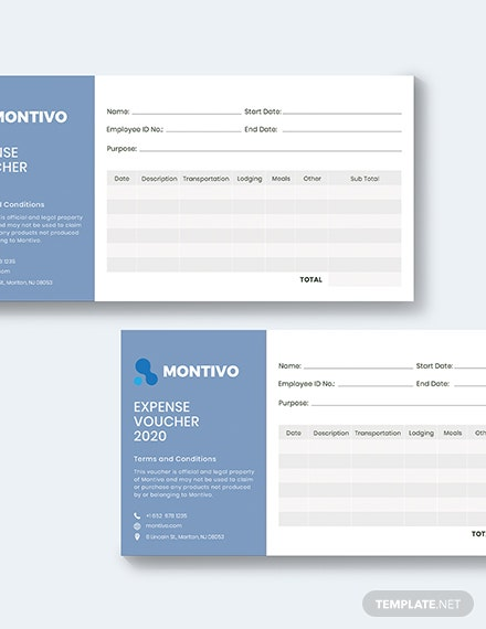 Sample Business Expense Voucher