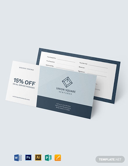 discount business voucher template 1