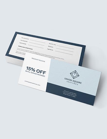 Sample Discount Business Voucher
