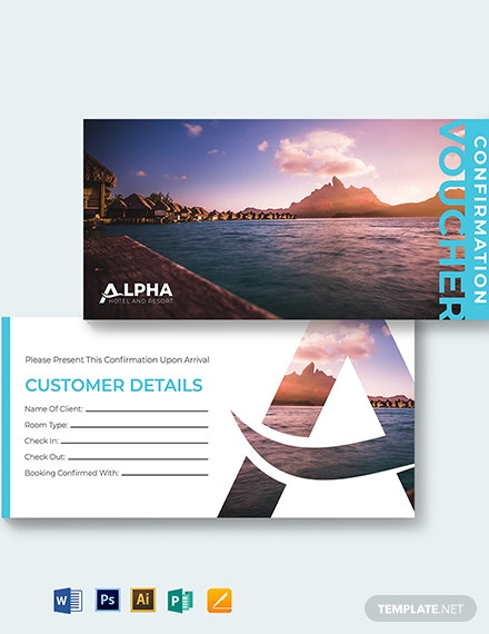 hotel confirmation voucher template 1