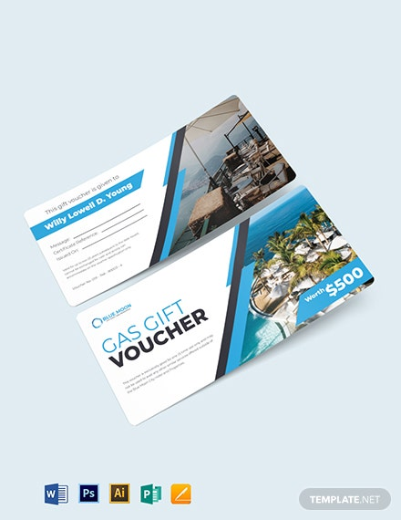hotel gas voucher template 1