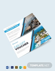 Hotel Gas Voucher Template