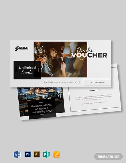 hotel mini bar voucher template 1