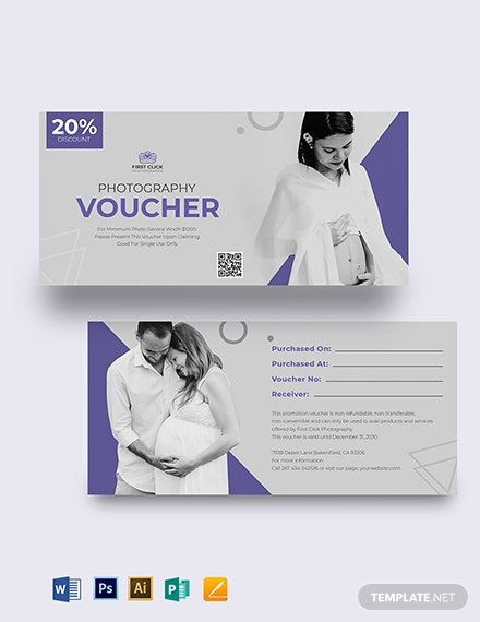 Maternity Photography Voucher Template