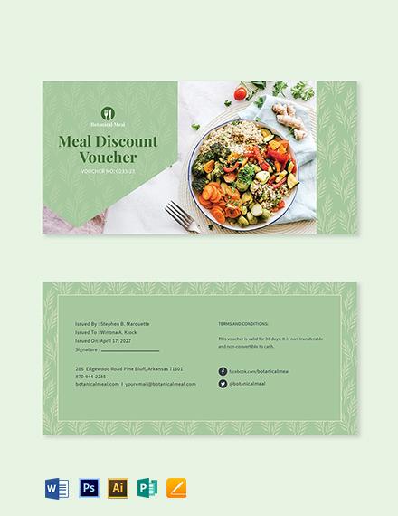 Meal Discount Voucher Template