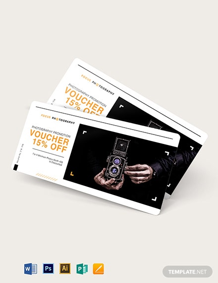 Photography Promotion Voucher Template