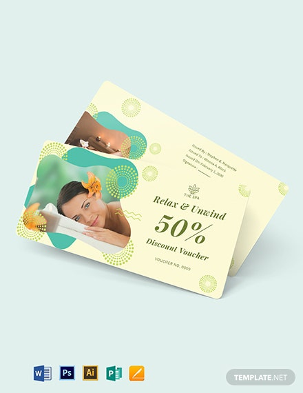 Printable Spa Voucher Template