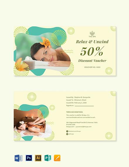 Printable Spa Voucher Template