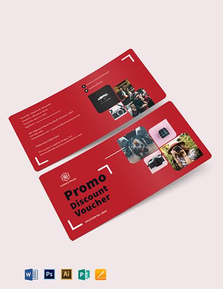 Promo Discount Voucher Template
