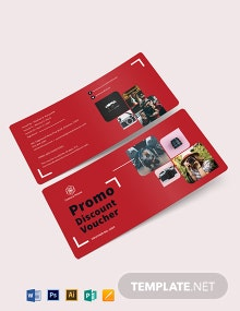 Promo Discount Voucher Template
