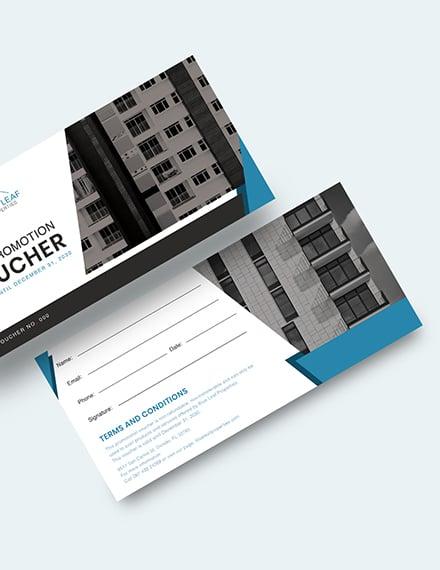 Real Estate Promotion Voucher Download