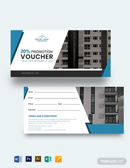 Real Estate Promotion Voucher Template