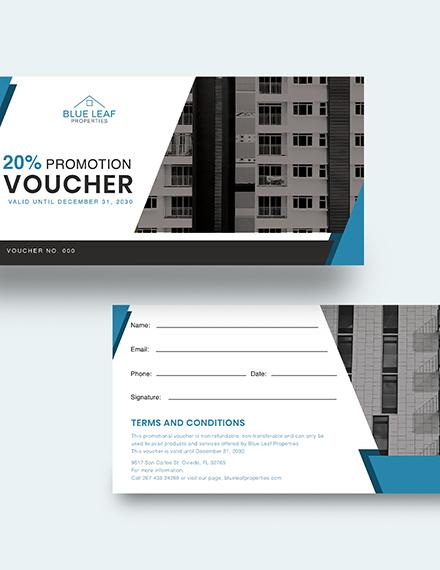 Sample Real Estate Promotion Voucher