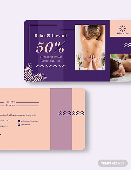 Sample Sample Spa Voucher